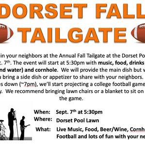 Dorset Fall Tailgate - September 7th