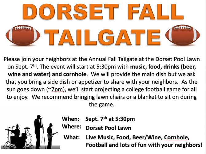 Dorset Fall Tailgate - September 7th