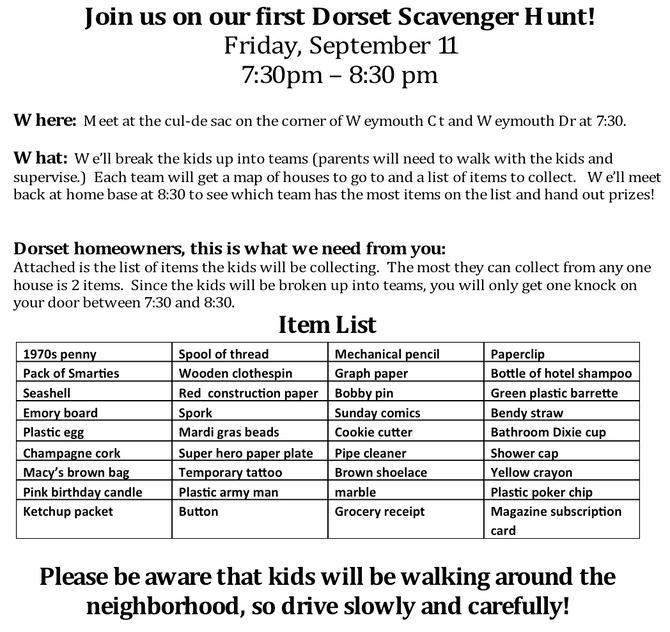 Dorset Scavenger Hunt