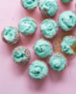 Green Frosting Cupcakes