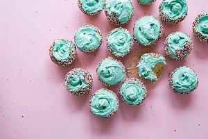 Зеленый глазировочных Кексы