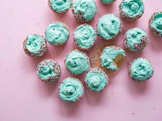 Grüner Frosting Cupcakes
