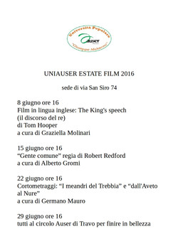 Estate Film 2016