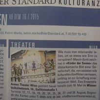 """Kinder der Sonne"" Theaterstück Wiener Wolksliedwerk Rolle: Melanija"