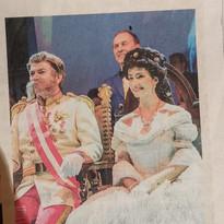 Artikel über Ball in Linz als Kaiserin Sissi