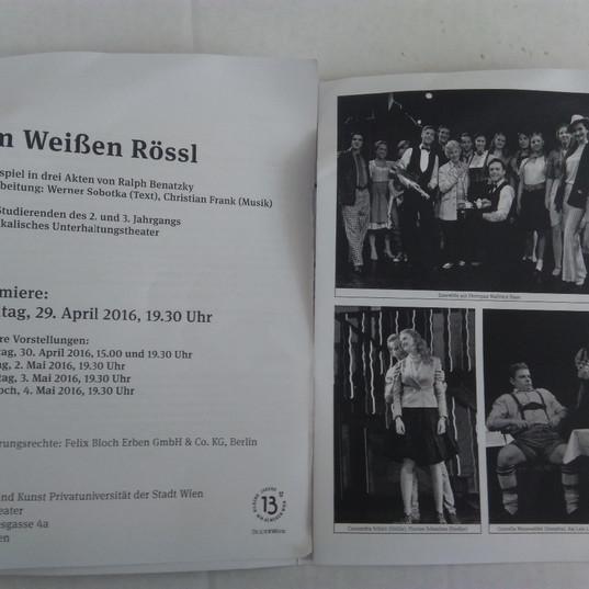 """Im Weißen Rössl"" - Rolle: Touristin/Liubov Atanasova"