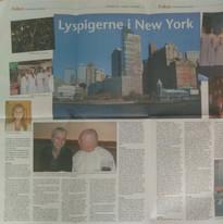 Artikel über die Tour nach NYC (dänisch)
