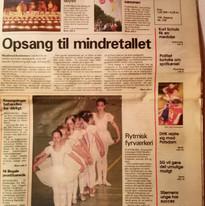 Ballett-Auftritt in der Kindheit (dänische Minderheit)
