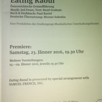"""""""Eating Raoul"""" Musical - Rolle: Sexpertin"""