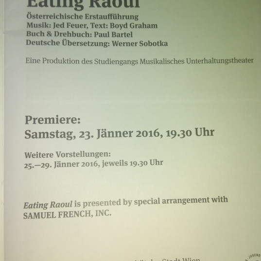 """""""Eating Raoul"""" - Rolle: Sexpertin"""