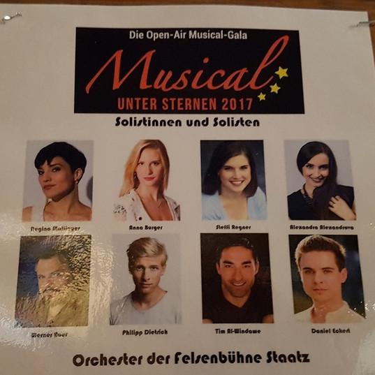 """Musicalgala """"Unter den Sternen"""" in Staatz - Solistin"""