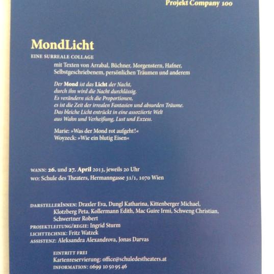 """Regieprojekt """"Mondlicht"""""""