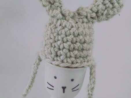 Crochet Bunny Egg cup cover