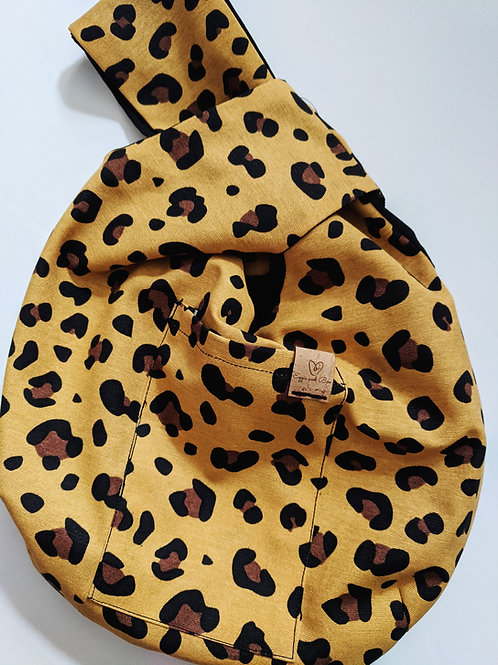 Mustard Leopard WIP Knot Bag