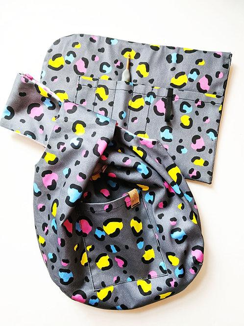Neon Leopard WIP Knot Bag