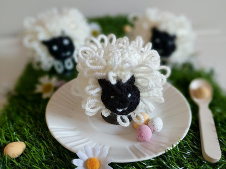 Loopy Crochet Sheep Egg Cosy