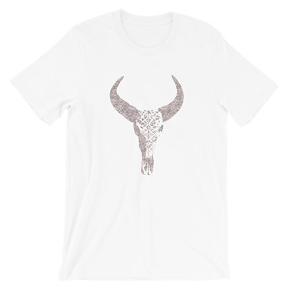 Short-Sleeve Unisex T-Shirt Carved Skull Glitter