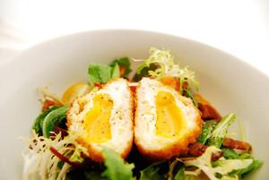 Crisp Organic Parmesan Farm Egg Salad