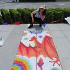Redwood City Sidewalk Chalk Art, by Lily, Age 13
