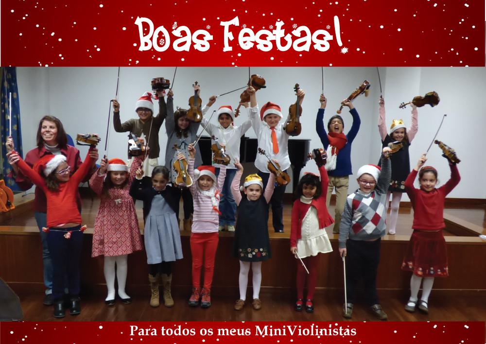 Boas Festas MiniViolinistas!