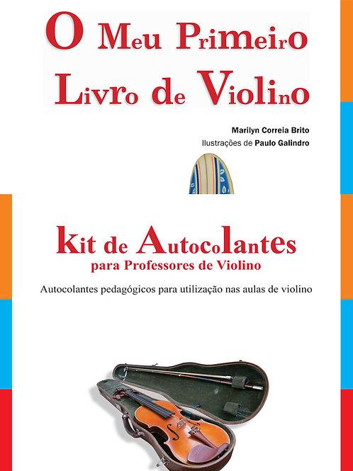 Pack O Meu Primeiro Livro de Violino + Kit de Autocolantes para o professor