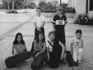 Classe de Violino na EMNSC, em 2001