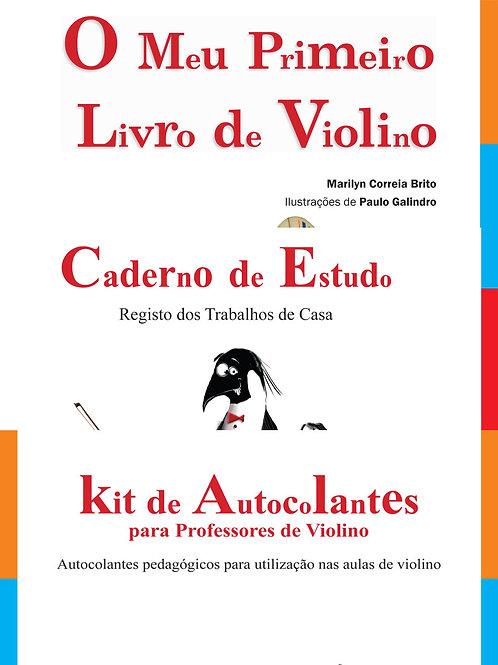 Pack O Meu Primeiro Livro de Violino + Kit + Caderno