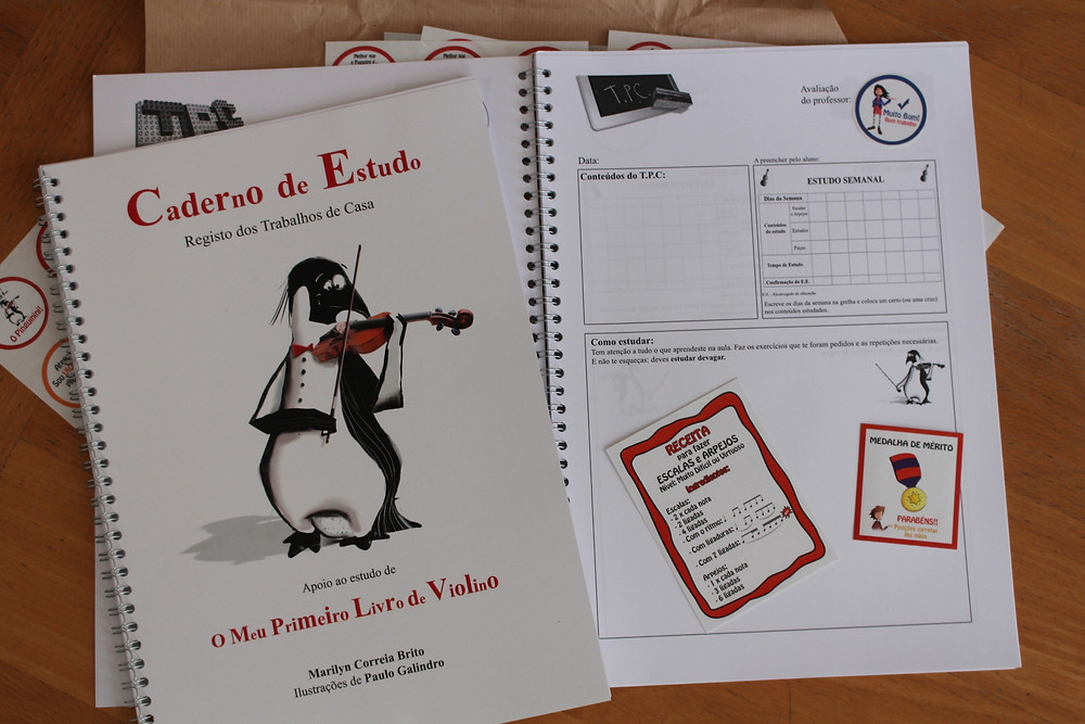 Caderno de Estudo - O Meu Primeiro Livro de Violino