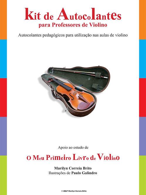 Kit de autocolantes para professores de violino