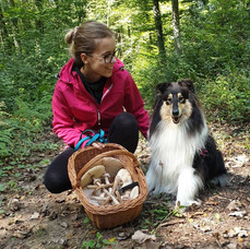Leja and Gill while foraging for mushrooms