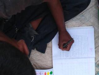 Naveen* lærer alfabetet for første gang