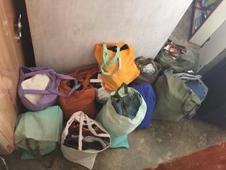 Matinnkjøp og sortering av klær