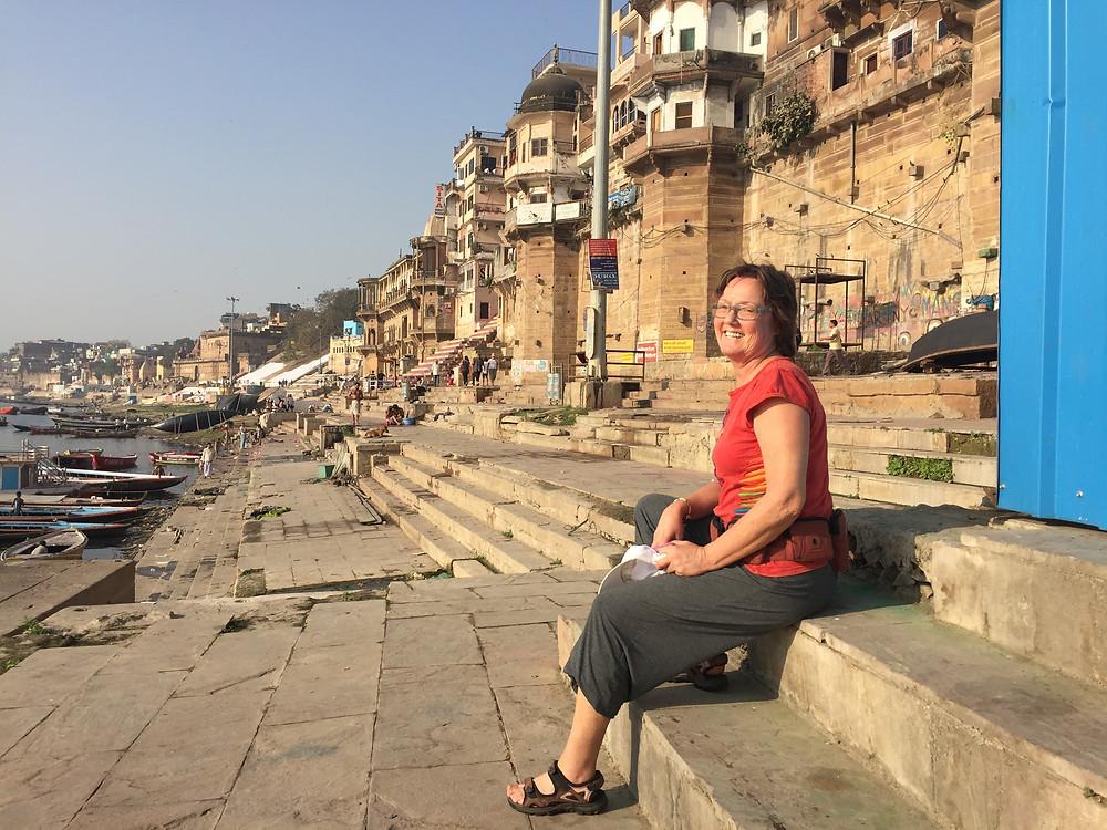 Torlaug på ghatene i Varanasi
