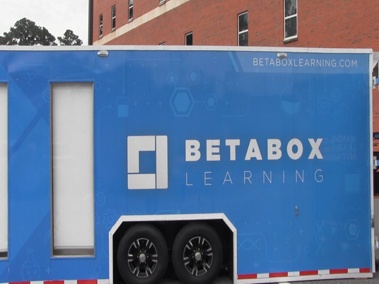 Beta Box Mobile Lab Visits Meridian High School.