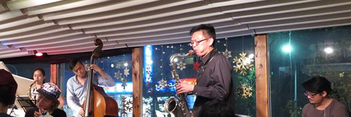 Jamming with Ying-chen Lin quartet on Ch