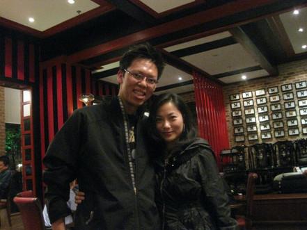 Photo with wonderful singer, Ms Elaine L