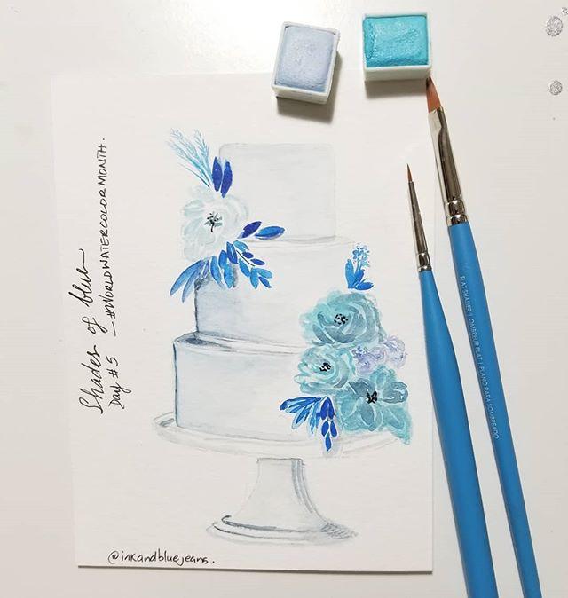 Watercolor Cake Illustration