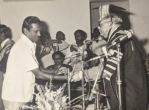 Vidyadharatheertha Guruji on MSC Convocation