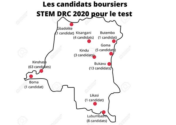 Les candidats boursiers STEM DRC 2020 po