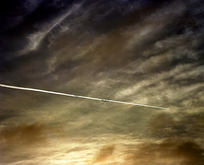 Clouds & Contrail Aerial Skyscape 7