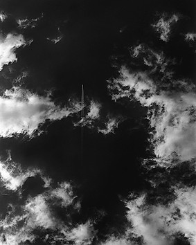 Clouds & Contrail Aerial Skyscape 4