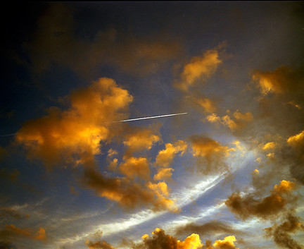 Clouds & Contrail Aerial Skyscape 1