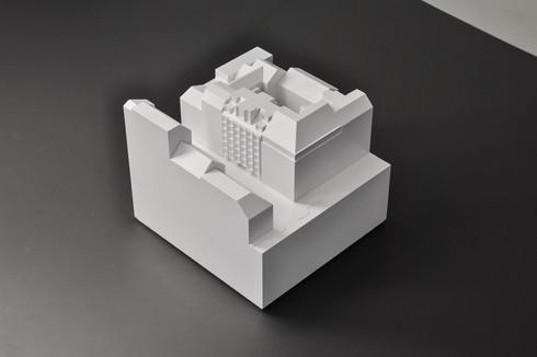 Architekturmodell, Weißmodell, Modell in Maßstab 1:200