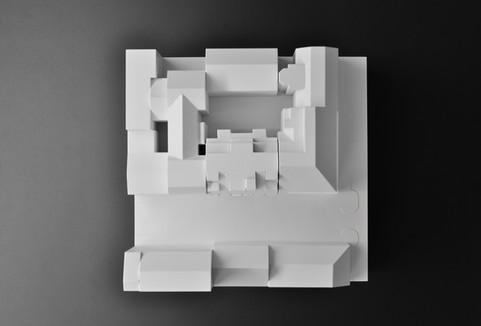 Architekturmodell, Modell Topview, Modell in Maßstab 1:200, Modell Material: Polystyrol