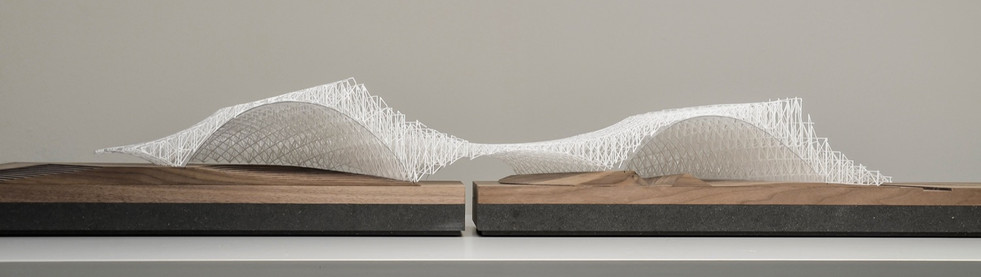 Architekturmodell – DMMA, Modell in M 1:250, Modell Materialien: Holz, Metal, Plastik, Polystyrol, Acryl