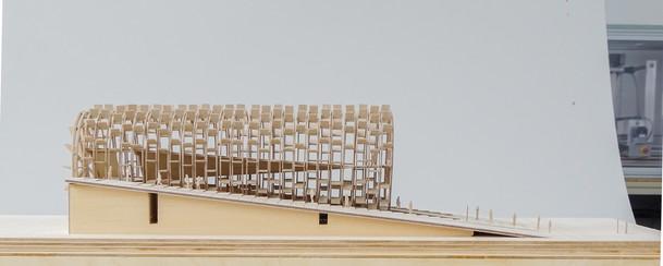 Architekturmodell aus Flugzeugsperrholz, Massstab 1:500 Architekturbüro - Smartvoll. Modellbau Studio - Scala Matta
