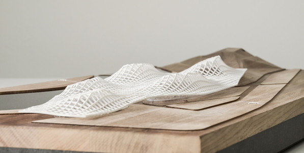 Präsentationsmodell DMMA, Präsentationsmodell in Maßstab 1:250, Modell Materialien: Holz, Metal, Plastik, Polystyrol, Acryl