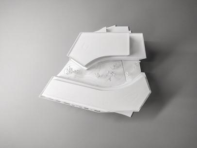 Wettbewerbmodell Wien, Modell  Topview, Modell in Maßstab 1:200, Modell Material Kunststoff – Polystyrol