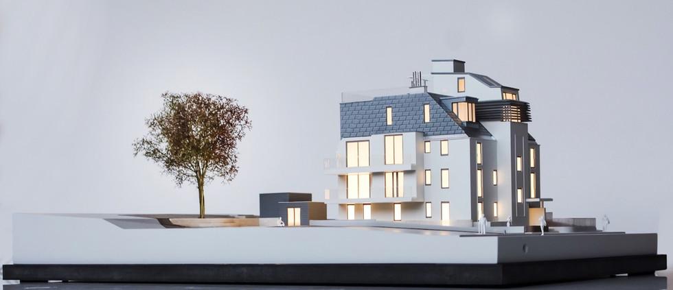 Wohnbauprojekt modell von Scala Matta, Wien