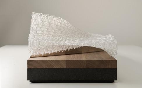 Architekturmodell DMMA, Modell 1:250, Modell Materialien: Holz, Metal, Plastik, Polystyrol, Acryl